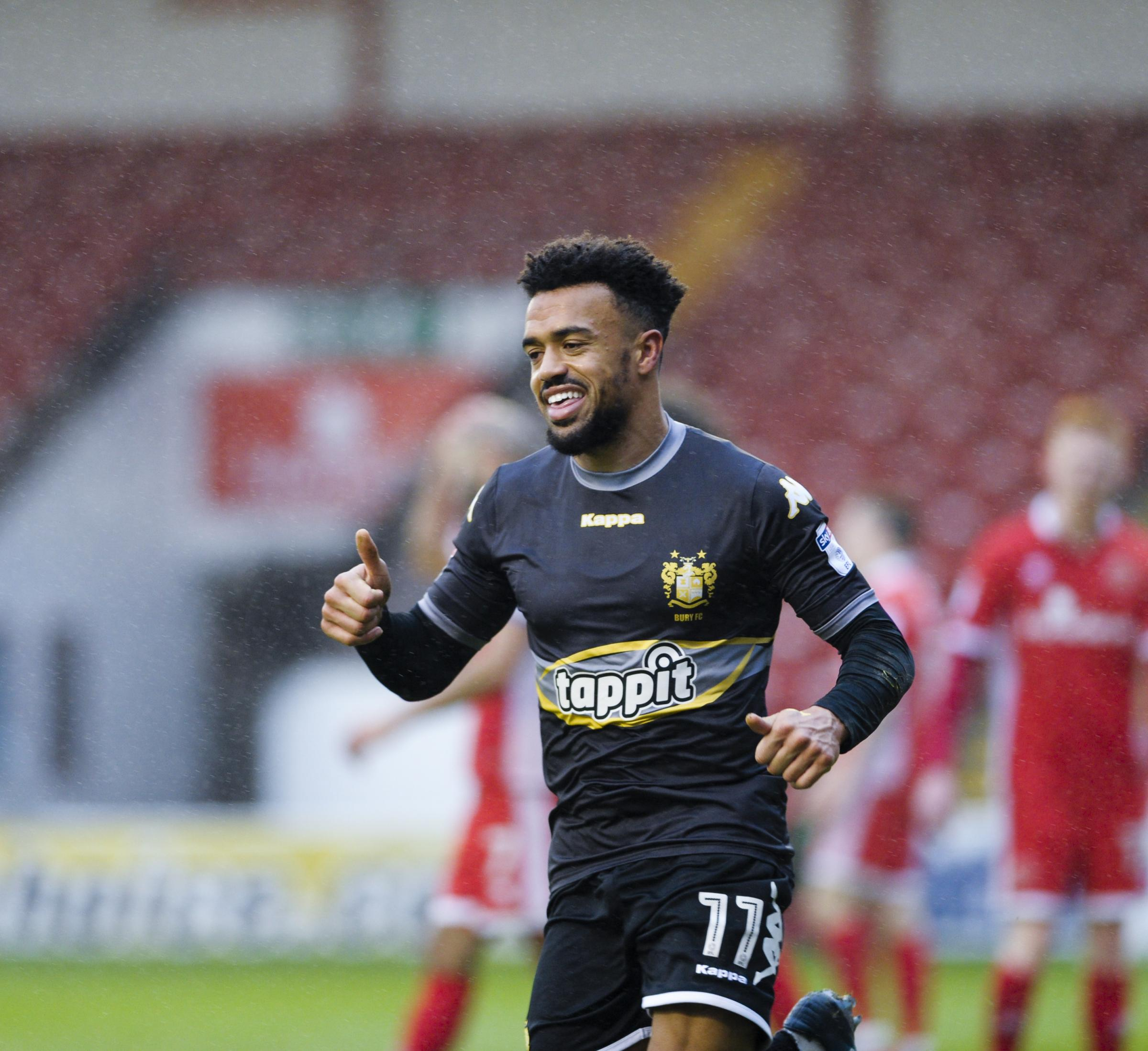 Nicky Ajose struggled for game-time at Bury
