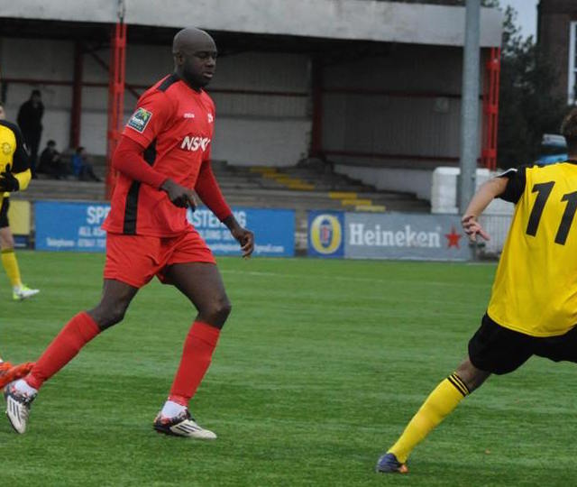 Carshalton Athletic manager Peter Adeniyi. Picture: Ian Gerrard