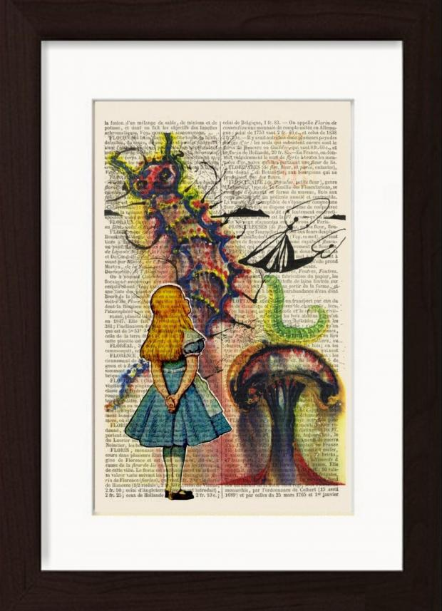 Your Local Guardian: Handmade at Amazon Alice In Wonderland Print by Dictionary Page Print, £18