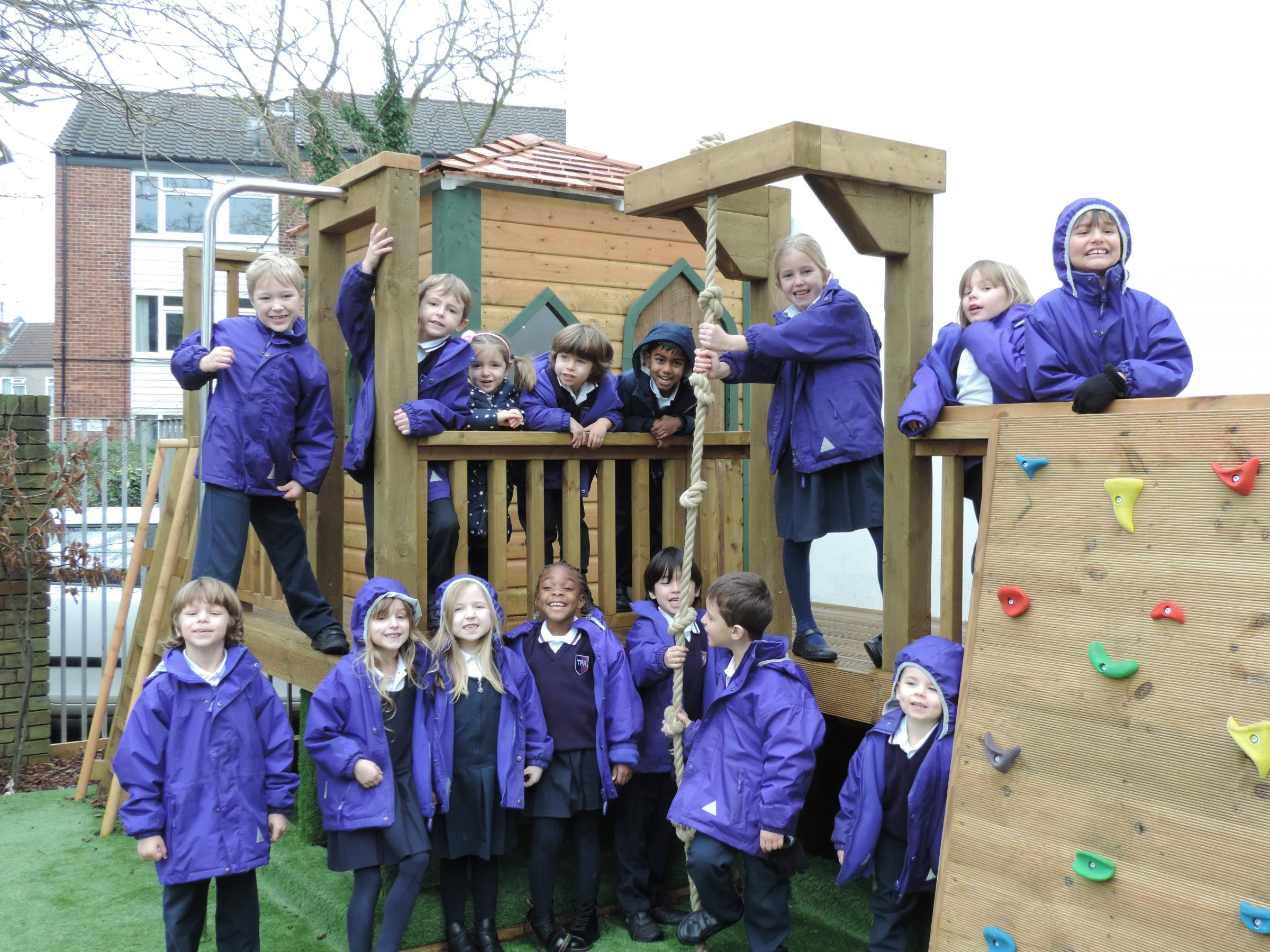 Children at Twickenham Primary Academy are overjoyed with their new adventure playground.