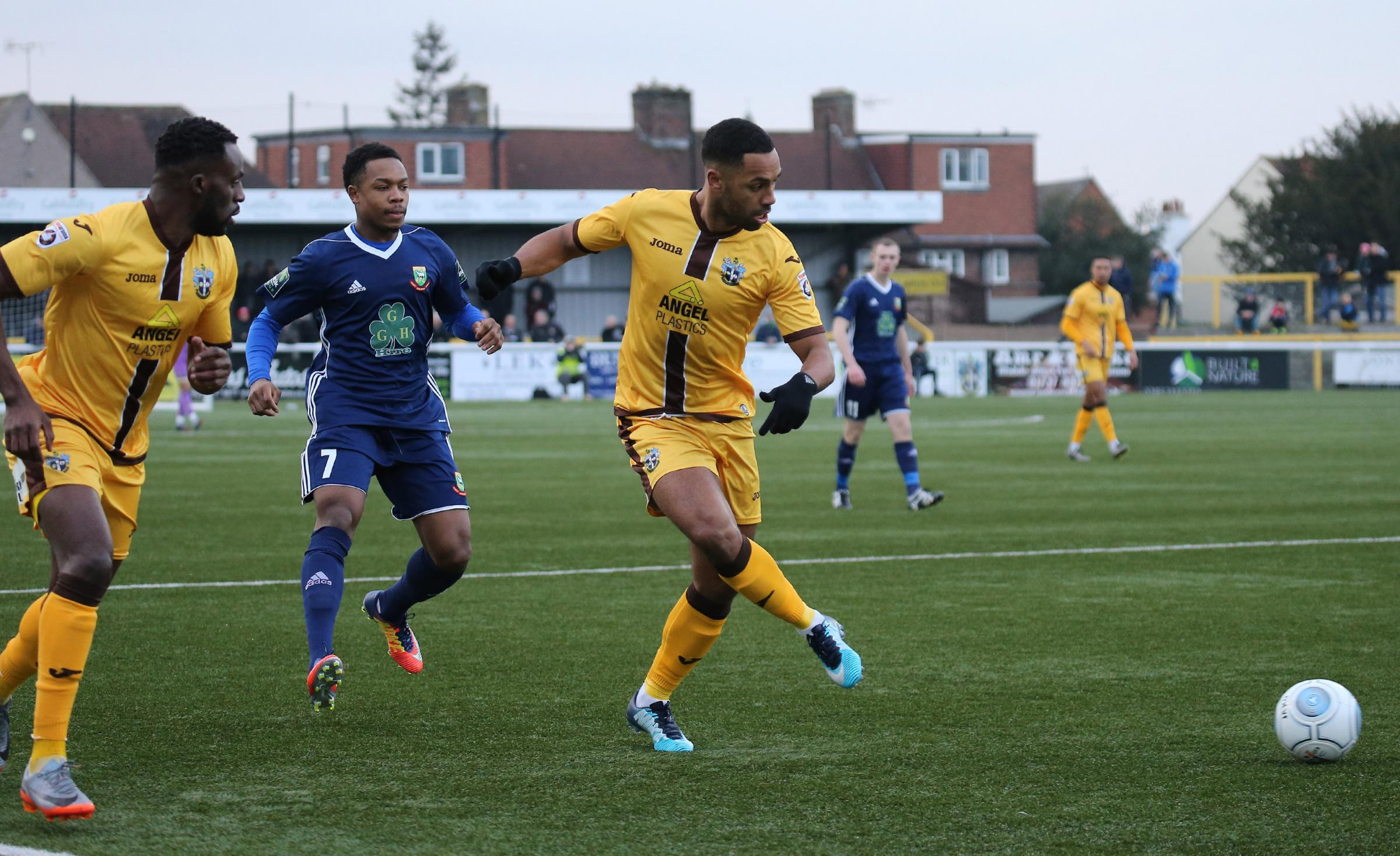 Adam Coombes scored a stunning second goal for Sutton United against Hendon on Saturday. Picture: Paul Loughlin