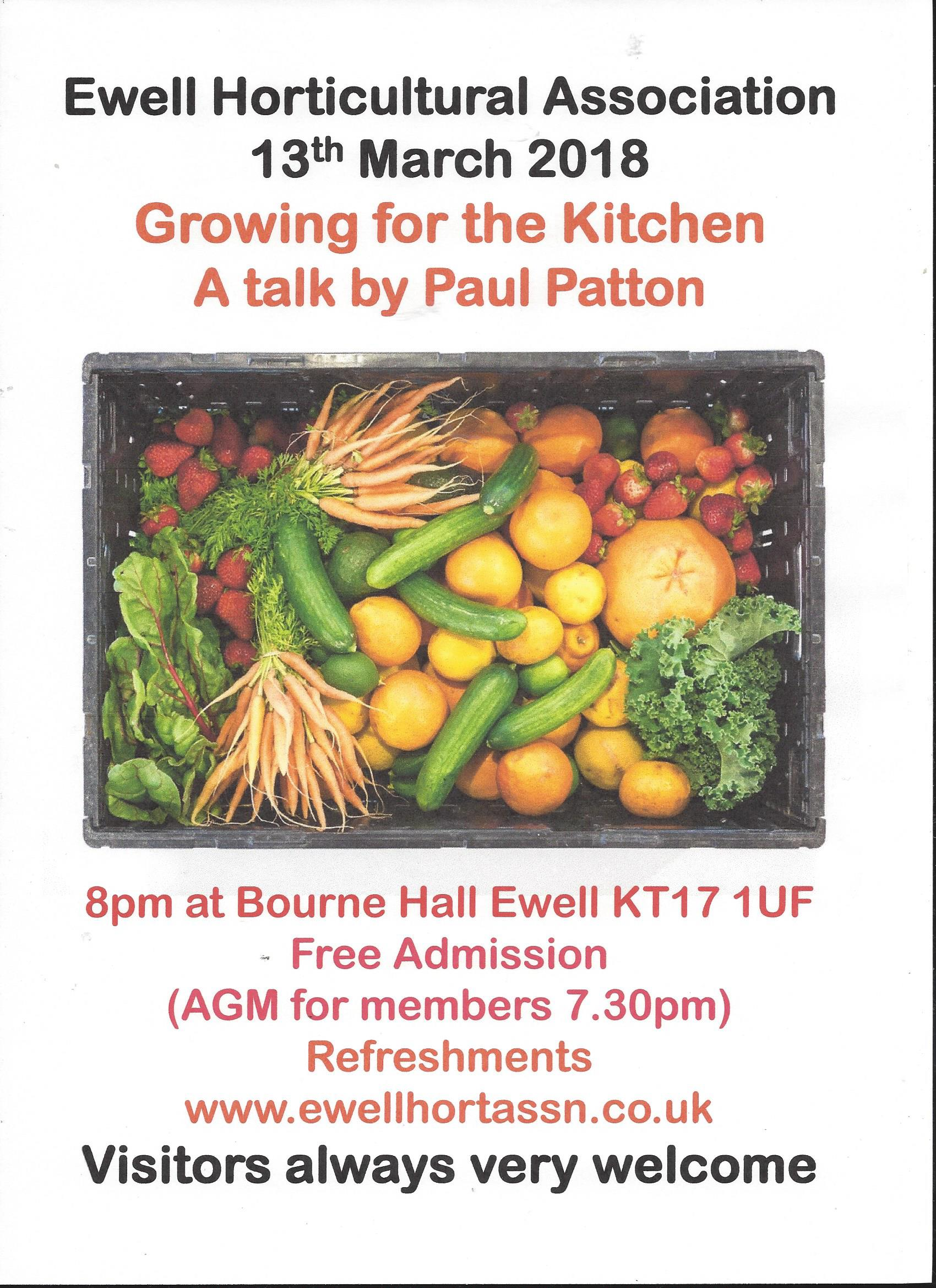 An illustrated talk: 'Growing for the Kitchen' by Paul Patton