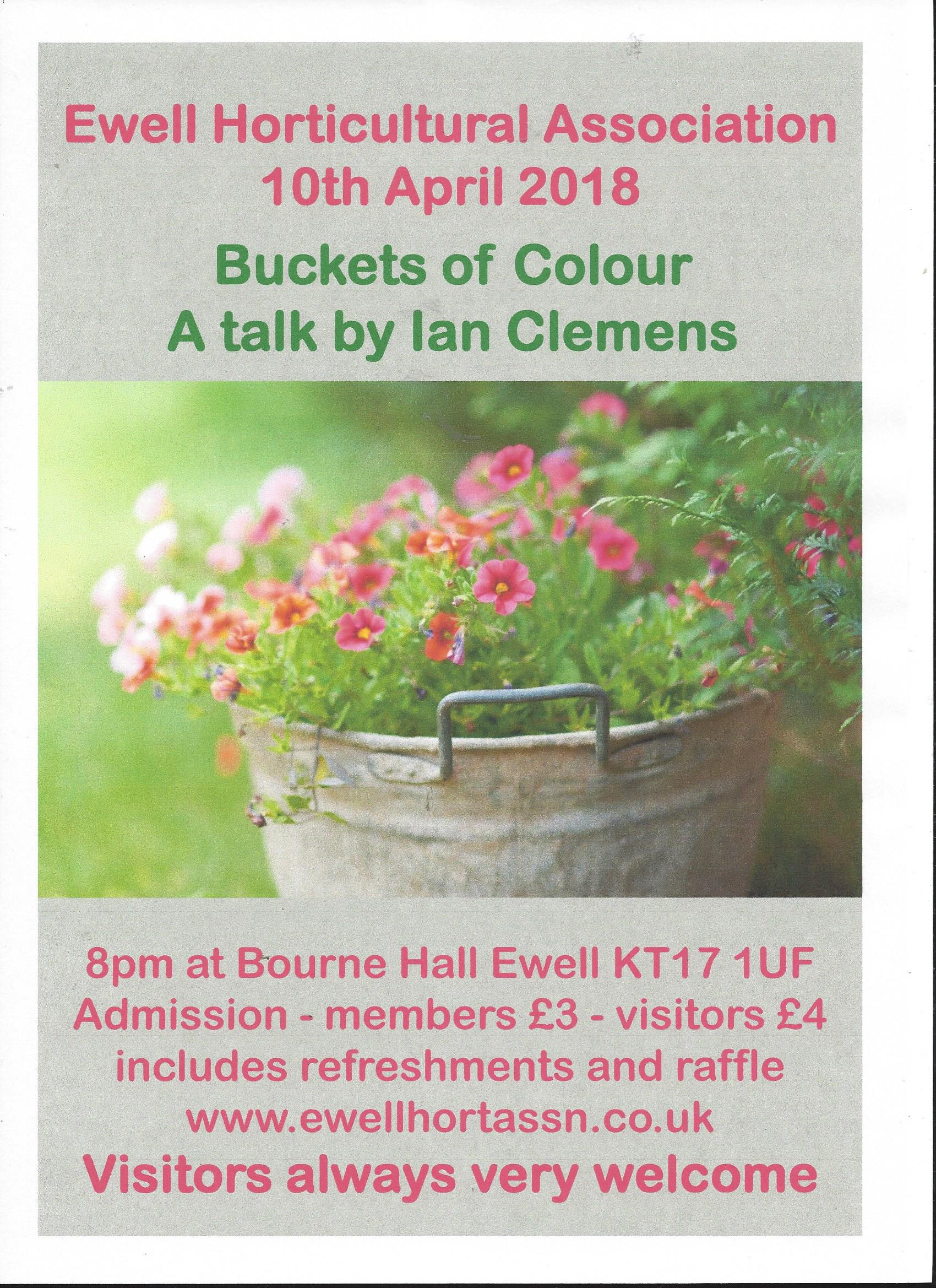 An illustrated talk: 'Buckets of Colour' by Ian Clemens