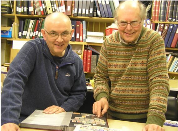 Epsom Stamp Shop owners Barry Mudie (left) and Paul Warren (right)