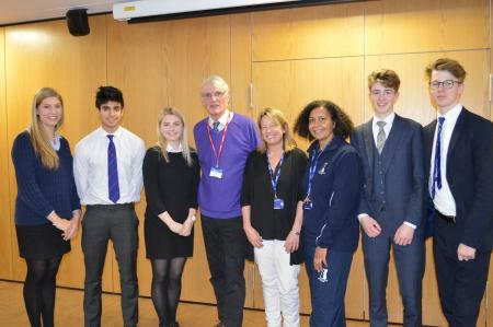 Dr Peter Vardy discusses euthanasia with sixth formers at Ewell Castle School