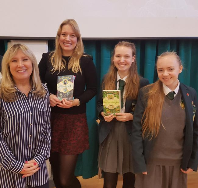 Author Jennifer Bell returned to Overton Grange School