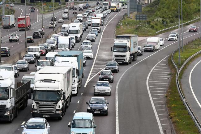 The UK was the world's 10th most congested country, according to traffic information supplier Inrix (PA)
