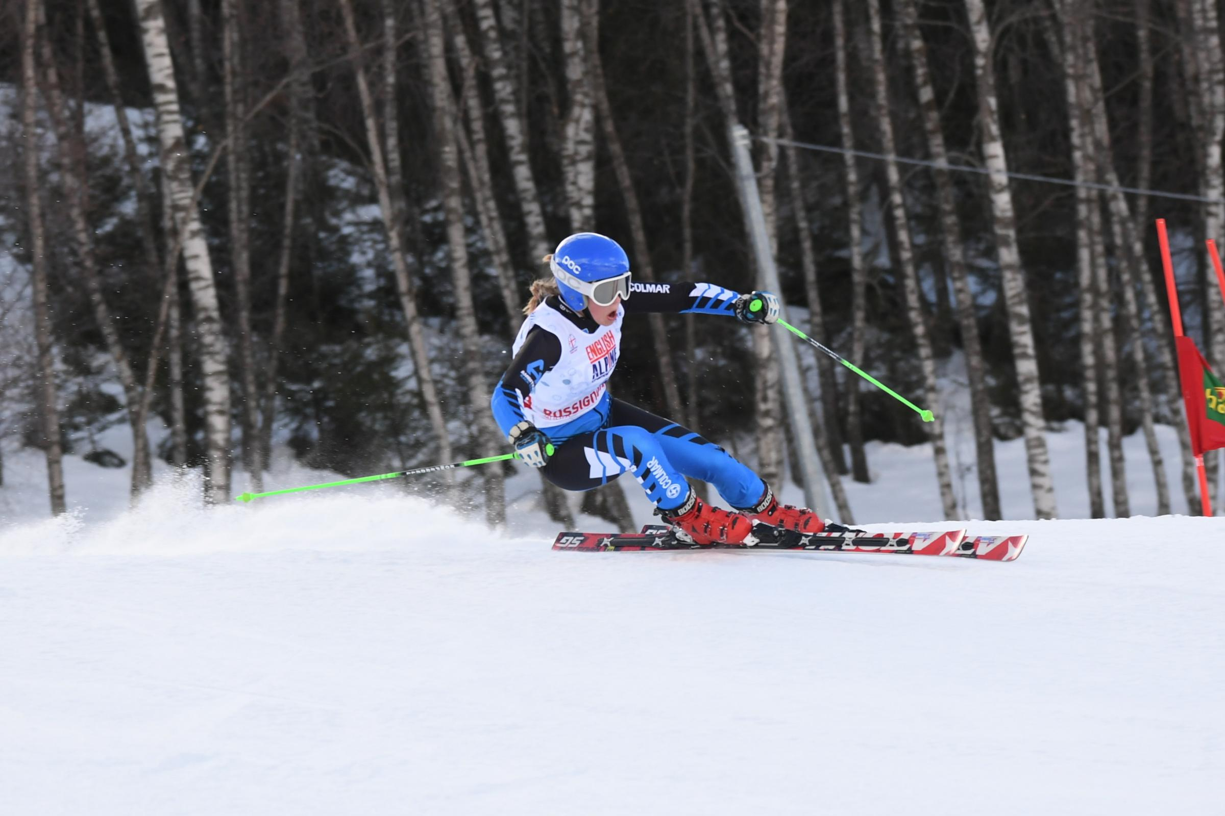 Sophie Foster won gold at the English Alpine Championships