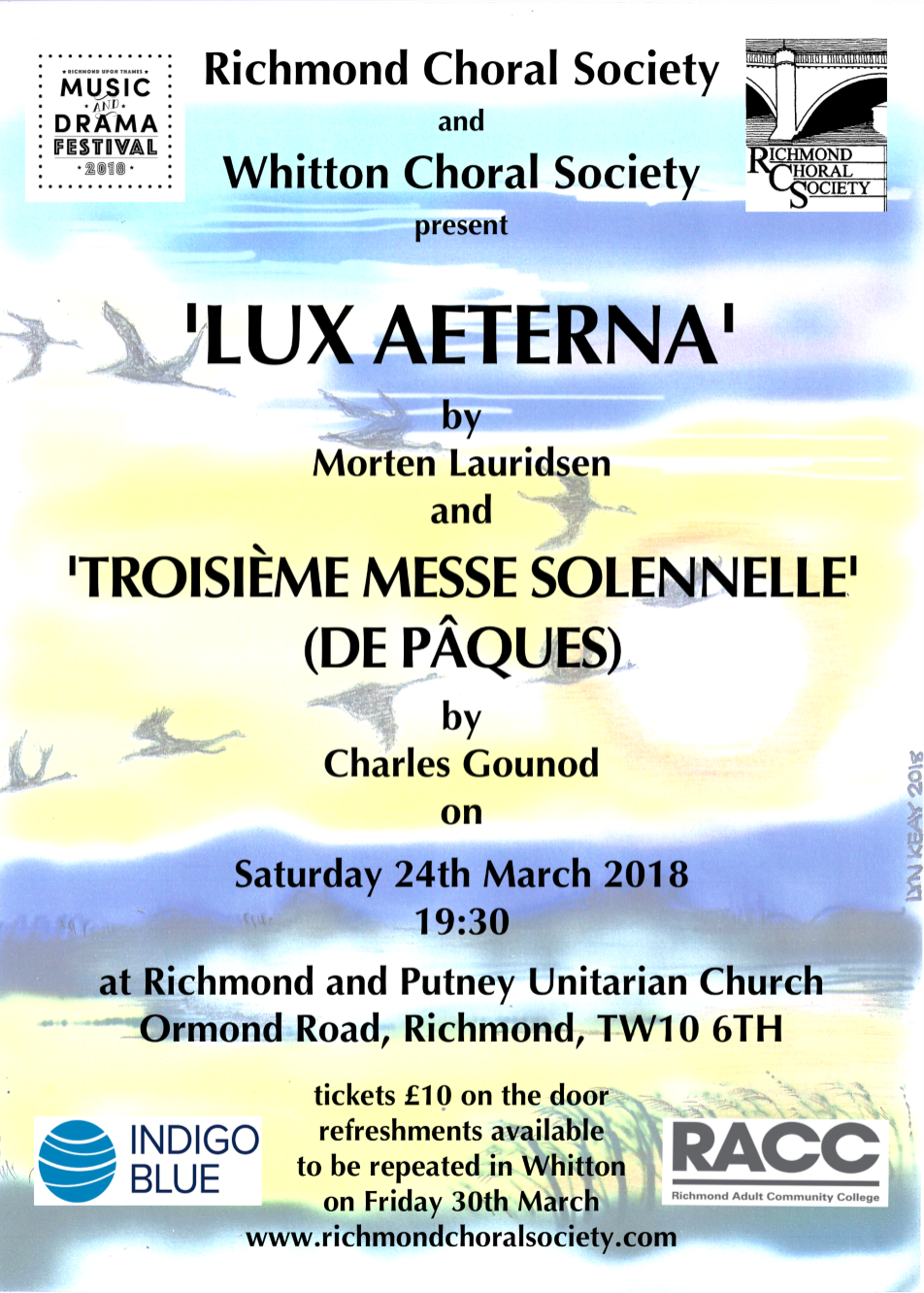 Richmond Choral Society and Whitton Choral Society - Music for Easter
