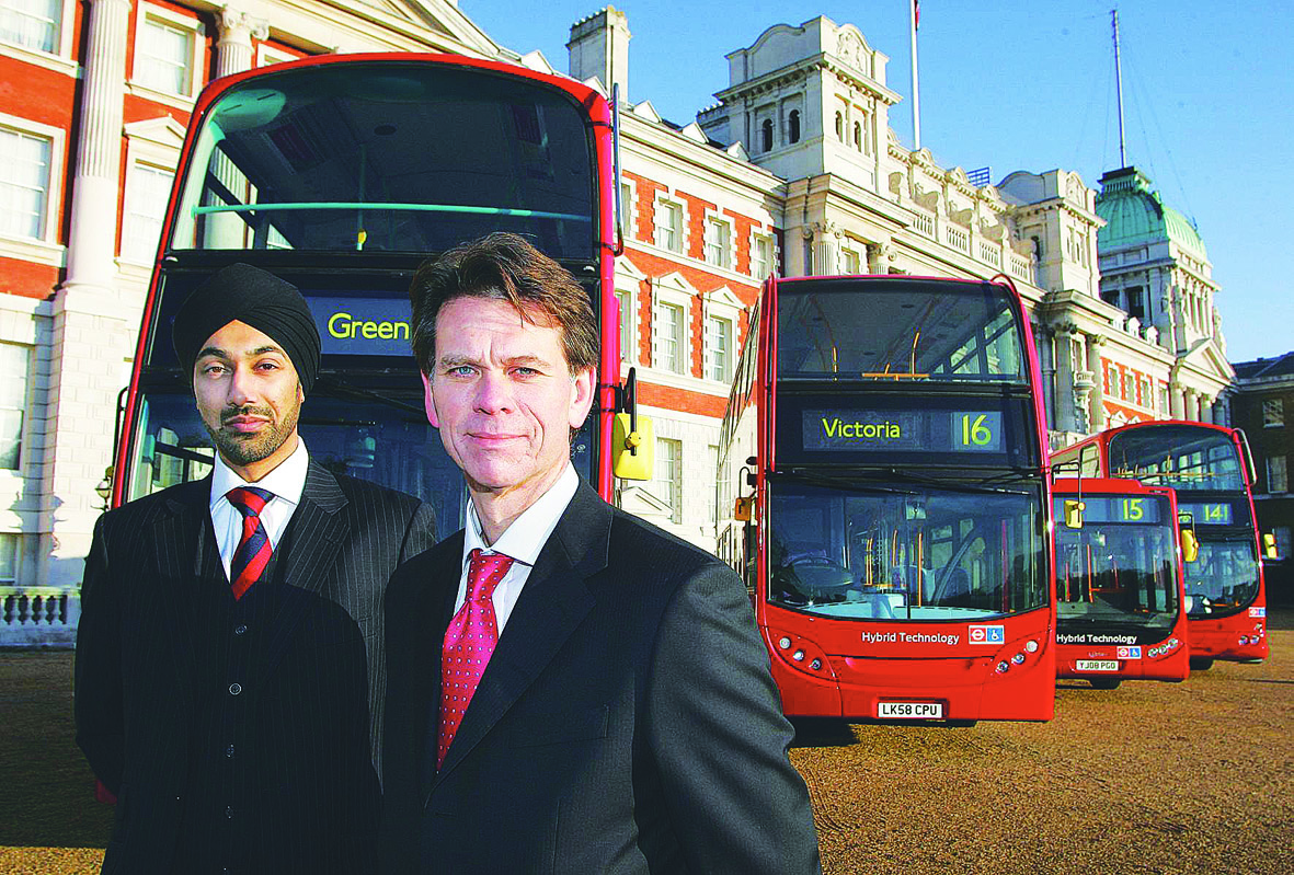 Route masters: The Mayor`s director of transport policy Kulveer Ranger and David Brown, managing director of surface transport for TfL