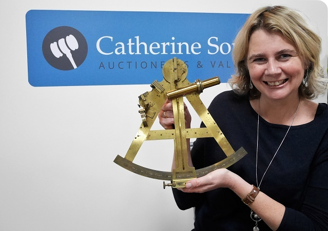 Catherine Southon with Duke of Clarence's Sextant