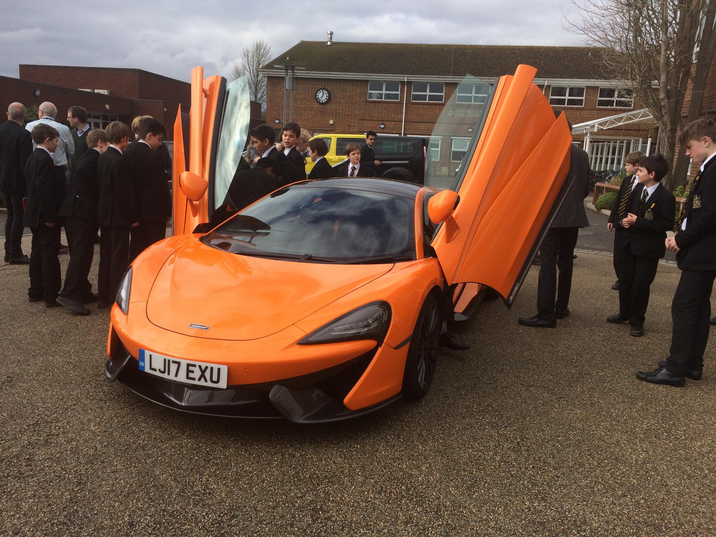 McLaren Sports Cars Come To Hampton School, By Ben Green.