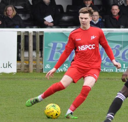 Ryan Healy scored a last minute goal for Carshalton Athletic on Monday. Picture: Ian Gerrard