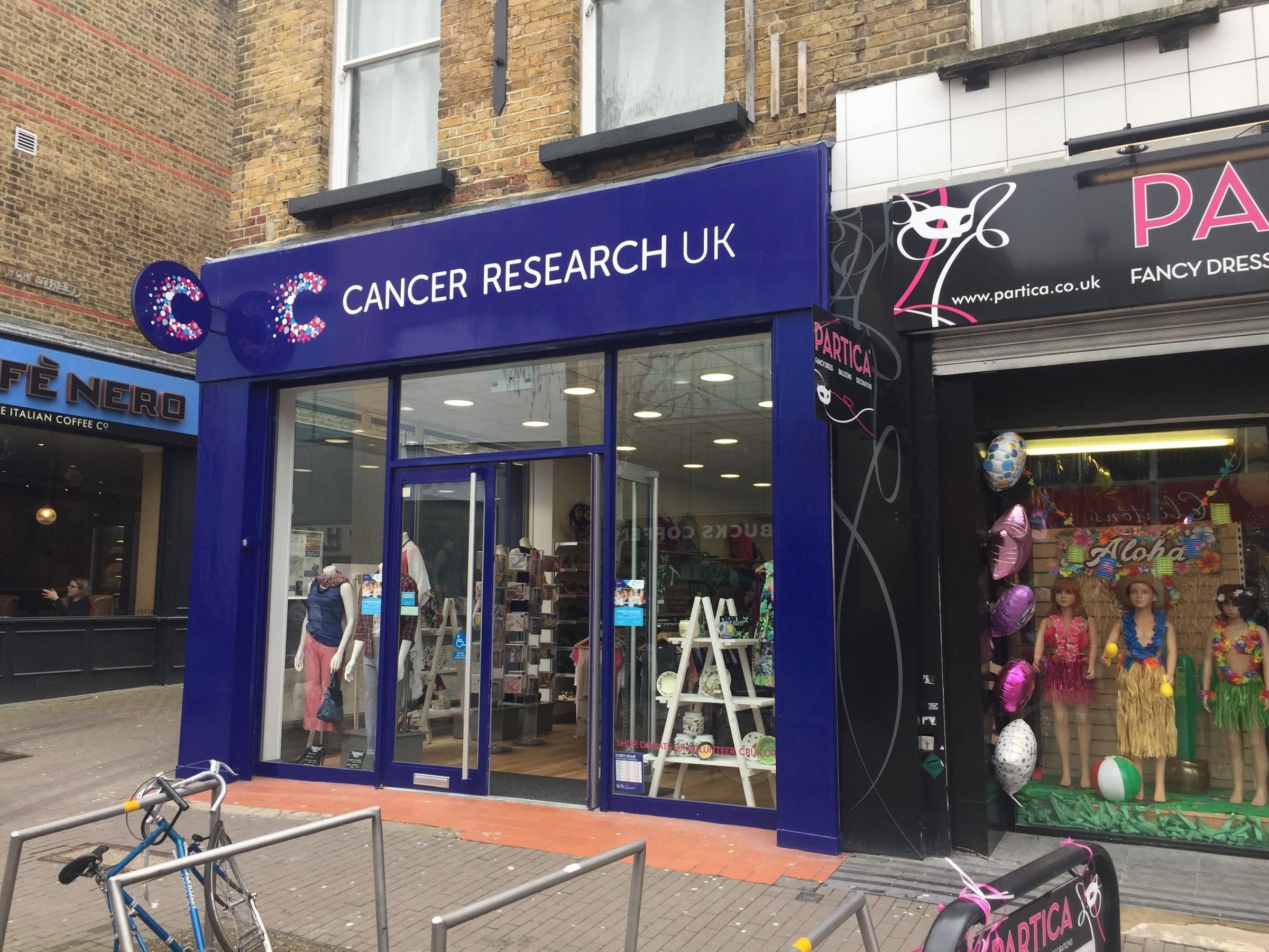 The reopened Cancer Research UK store in Sutton High Street
