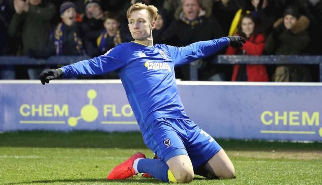 AFC Wimbledon striker Joe Pigott