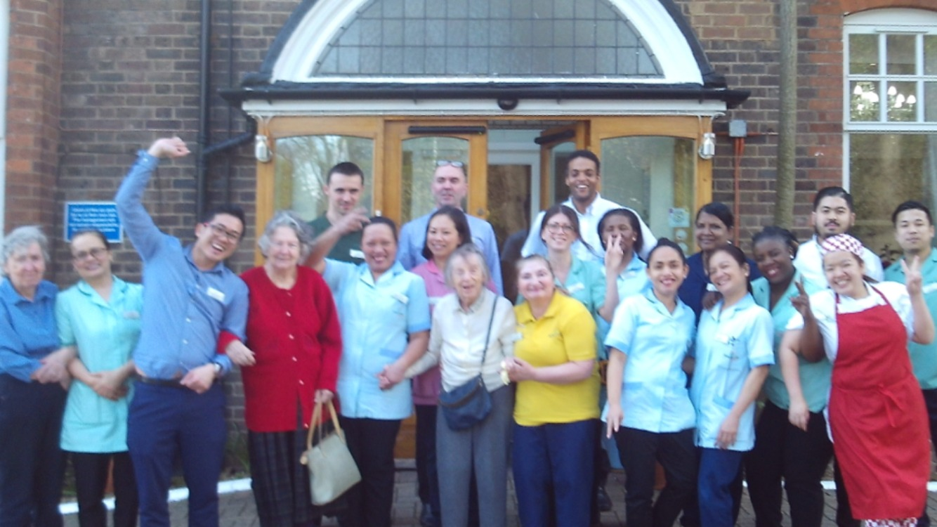 Staff and residents at Wimbledon Beaumont Care Community