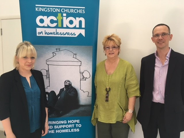 Camilla, Ali and Matt from Kingston Churches Action on Homelessness