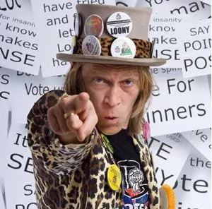 Monster Raving Loony Party candidate for Chessington North and Hook, Chinners