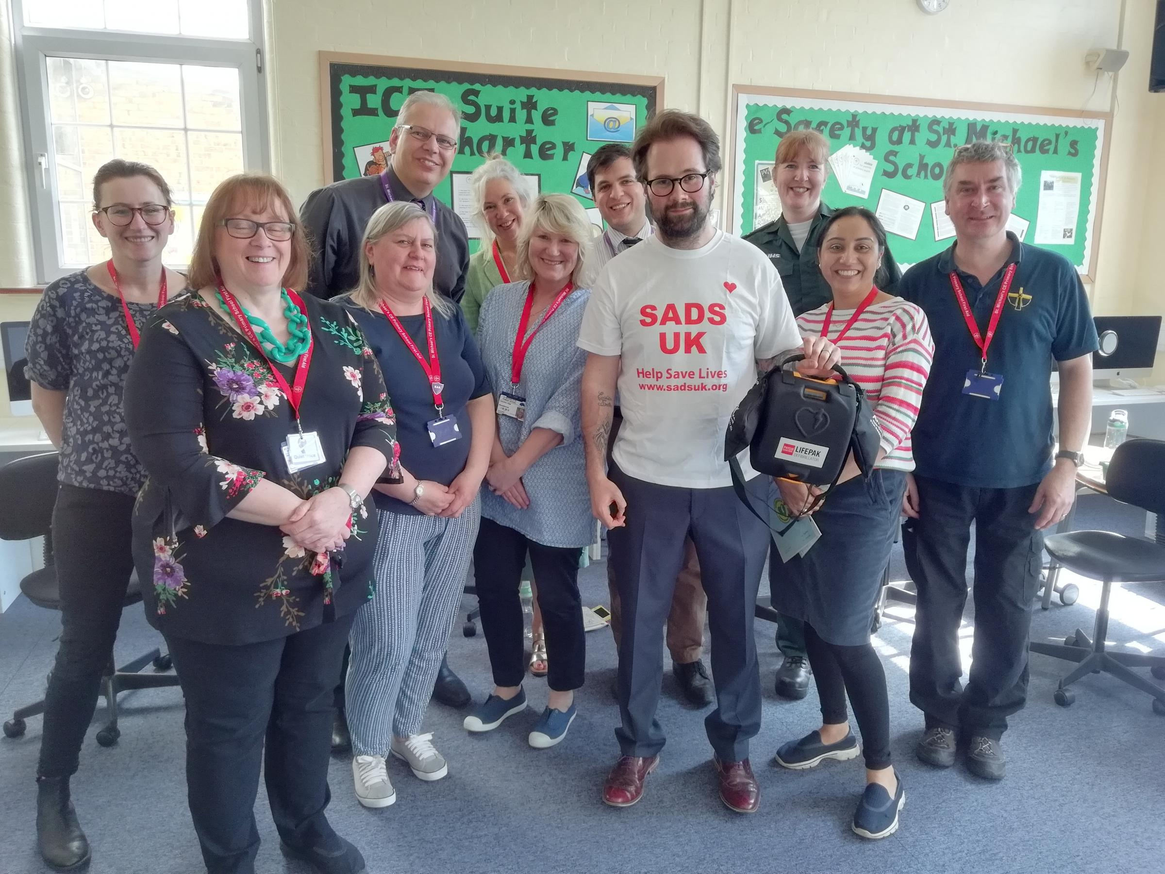 Defibrillator training took place at St Michael's CE Primary School on Wednesday, April 18
