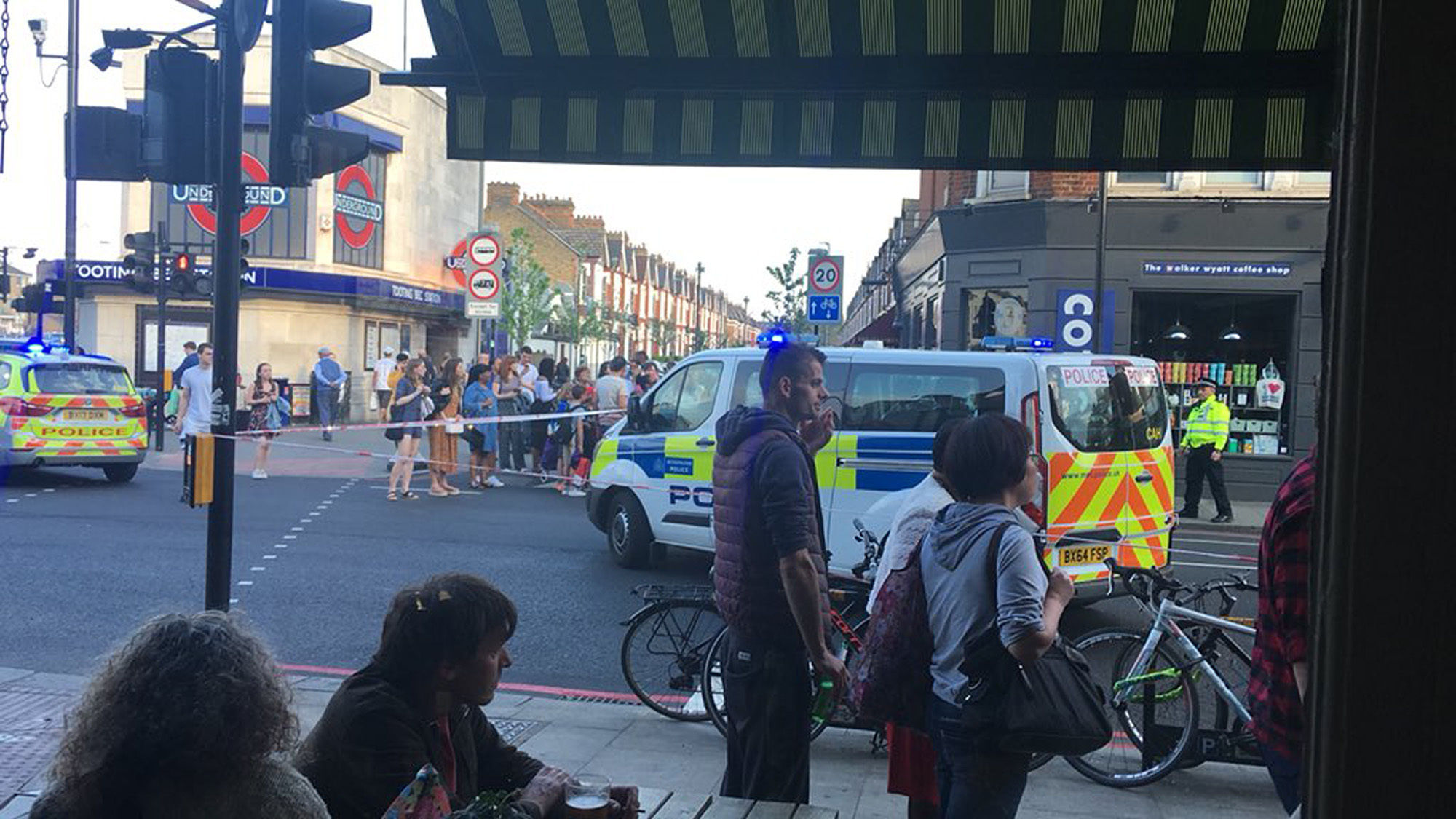 Two men stabbed outside Tooting tube station