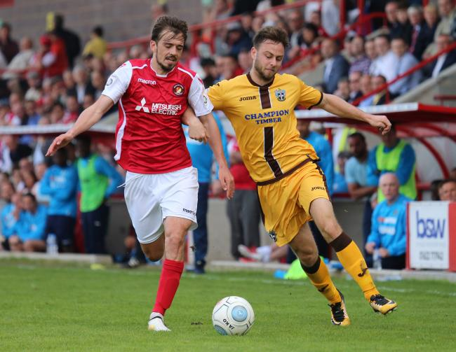 Sutton United's Josh Taylor (right) impressed in last Saturday's 1-0 victory at Ebbsfleet United. Picture: Paul Loughlin