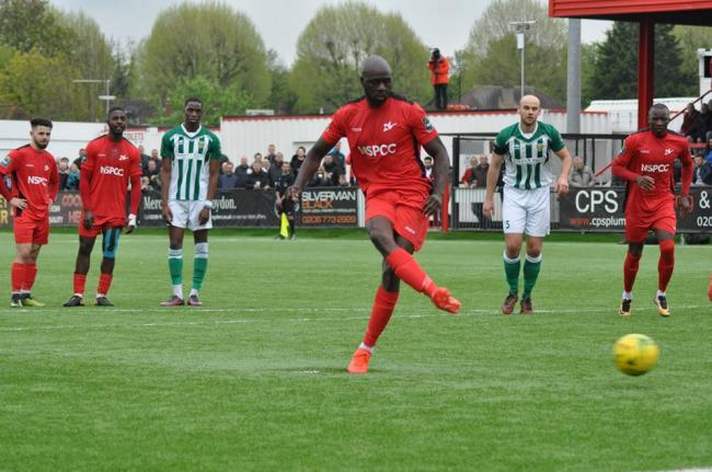 Carshalton Athletic player-manager Peter Adeniyi. Picture: Ian Gerrard