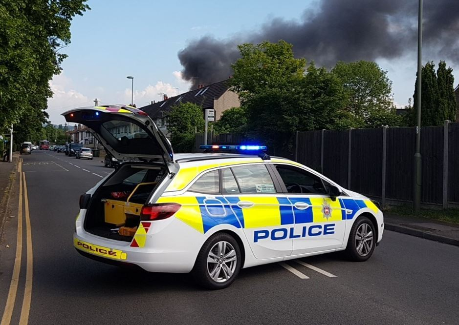 Shed fire in Hook Road in Epsom