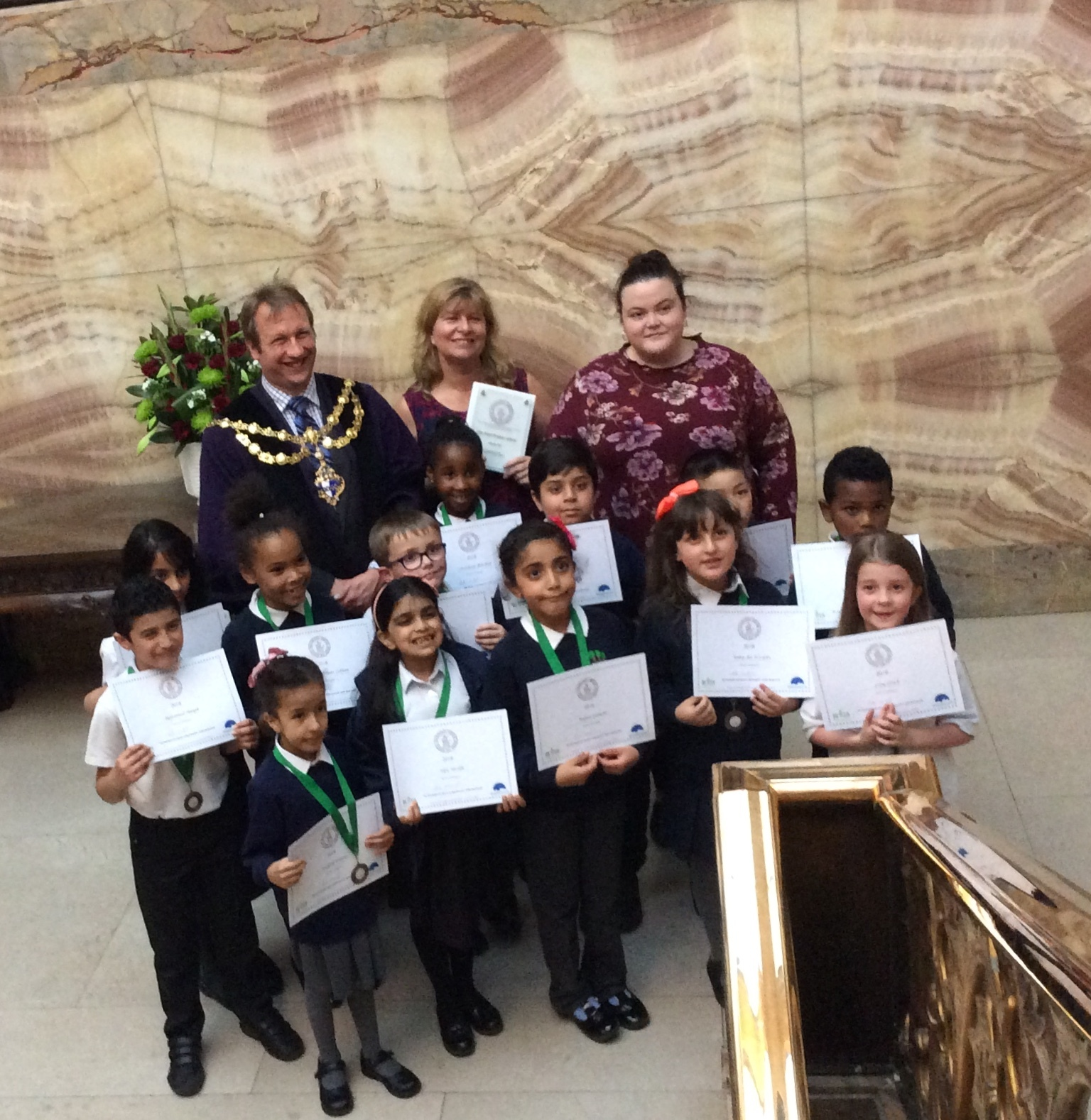 The year three pupils won the Key Stage two Wandsworth Heritage Award