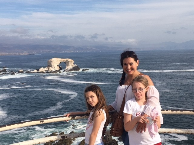 Vilma Watt visiting Chile with daughters Gabriella (10) and Ruby (11)