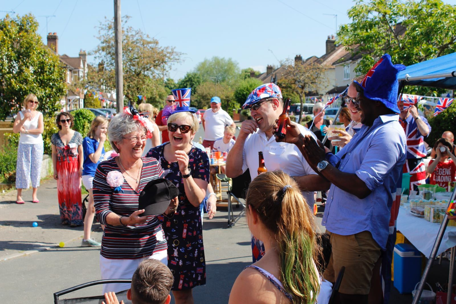 The lively street party in Barnett Close