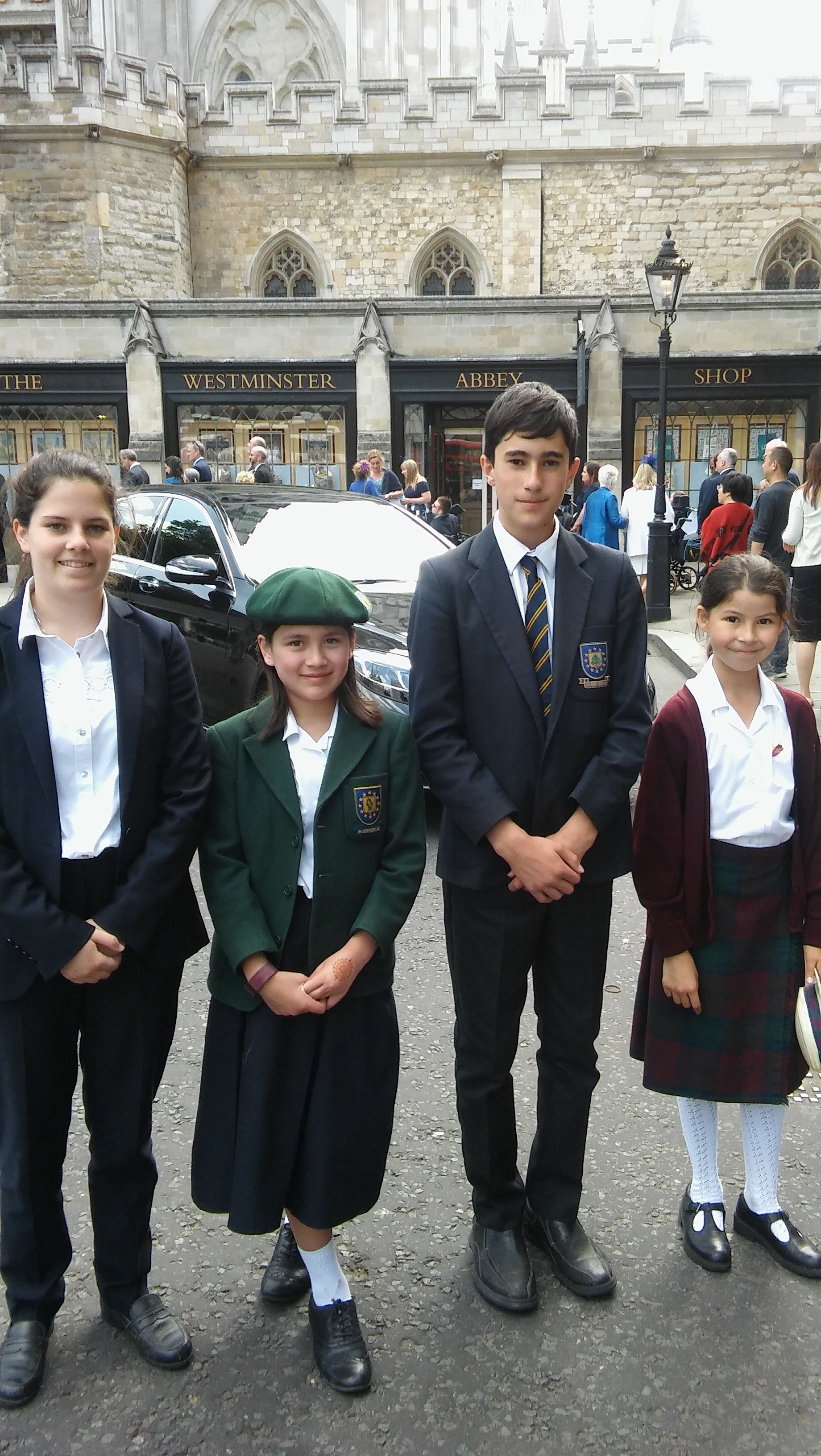 Pupils representing the four PACT Educational Trust Schools - The Laurels, Oakwood, The Cedars and Oliver House