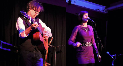 Daria Kulesh and Jonny Dyer at Croydon Folk Club on Monday 23rd July, 8:15
