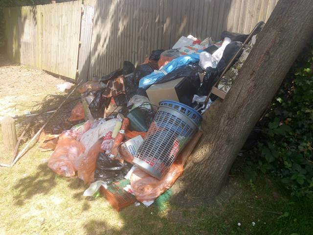 The man is accused of being responsible for this flytip