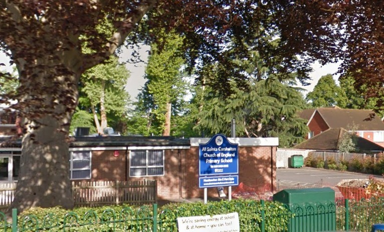 All Saints Carshalton CofE Primary School in Rotherfield Road. Photo: Google Maps / Street View