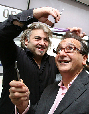 Gent owners Pasquale Castrichino, left, and Daniel Rouah are launching a new barber academy