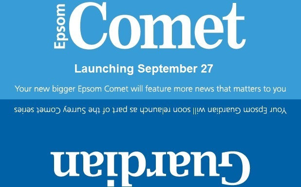 The first edition of the new Epsom Comet will be available from Thursday, September 27