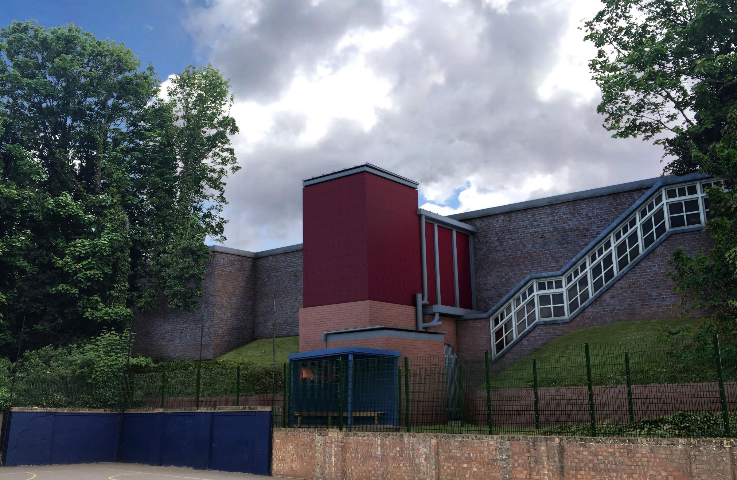 An artist's impression of the new lifts at Carshalton railway station. Photo: Network Rail