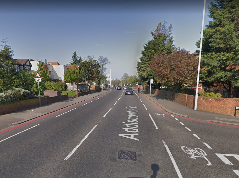 An air ambulance was called to Addiscombe Road