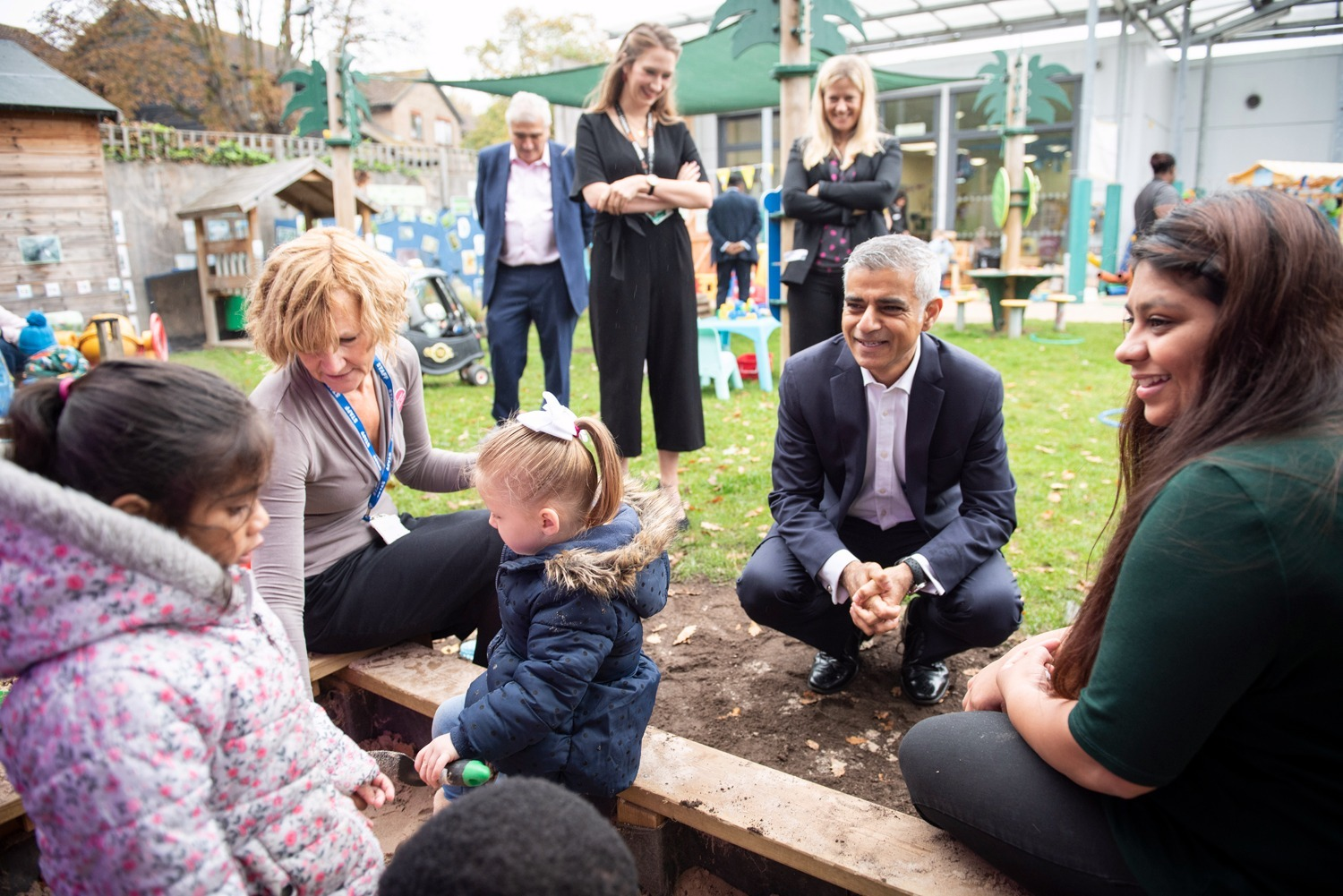 London mayor visits Acacia Pre-School Children's Centre to launch new initiative