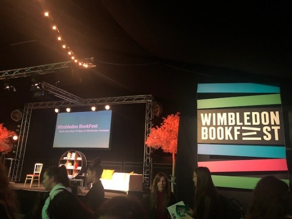 The main stage at the Bookfest.