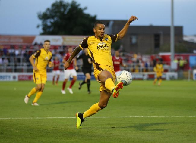 Craig Eastmond scored Sutton United's winner at Hartlepool on Saturday. Picture: Paul Loughlin