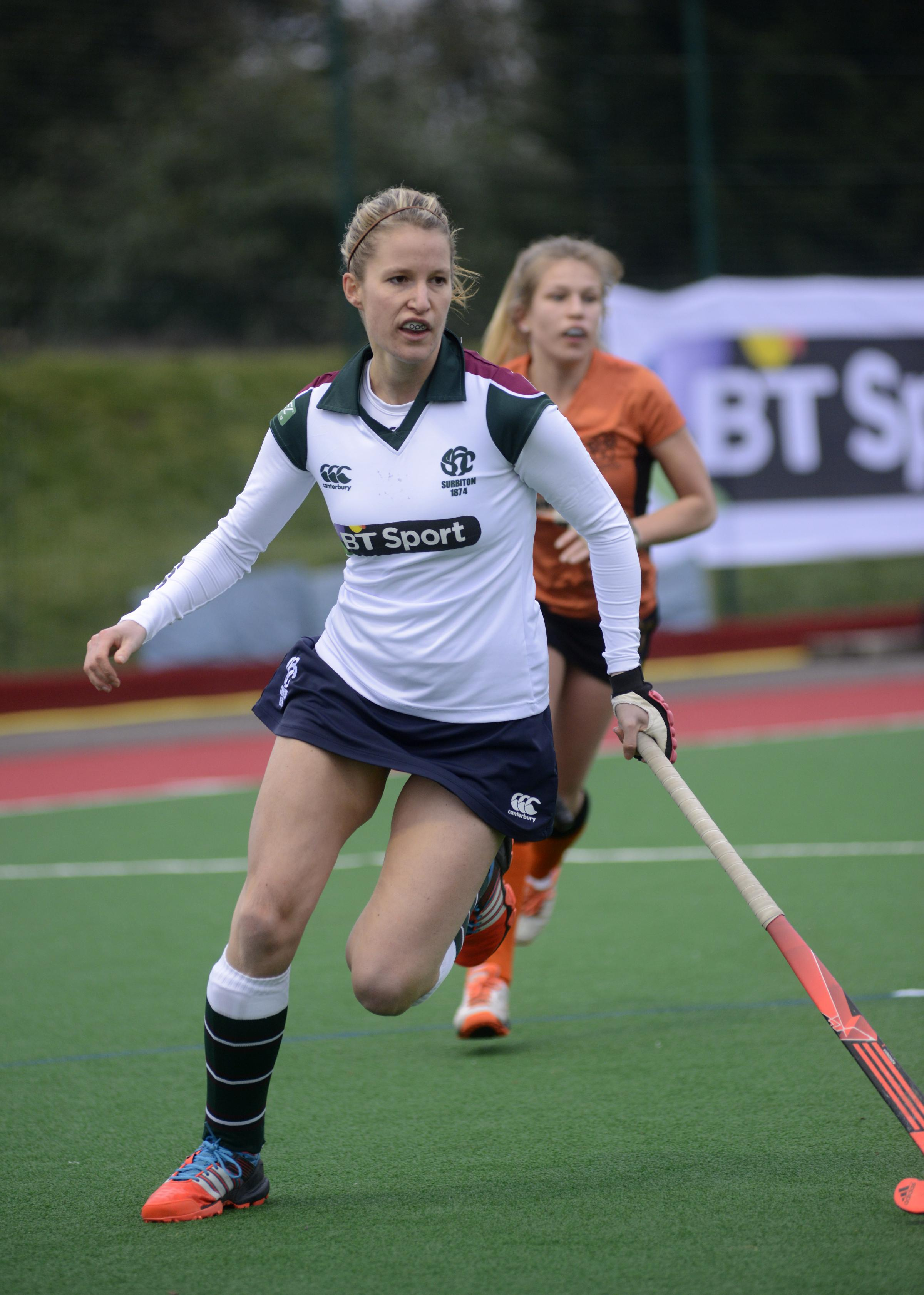 Jenna Woolven in action for Surbiton