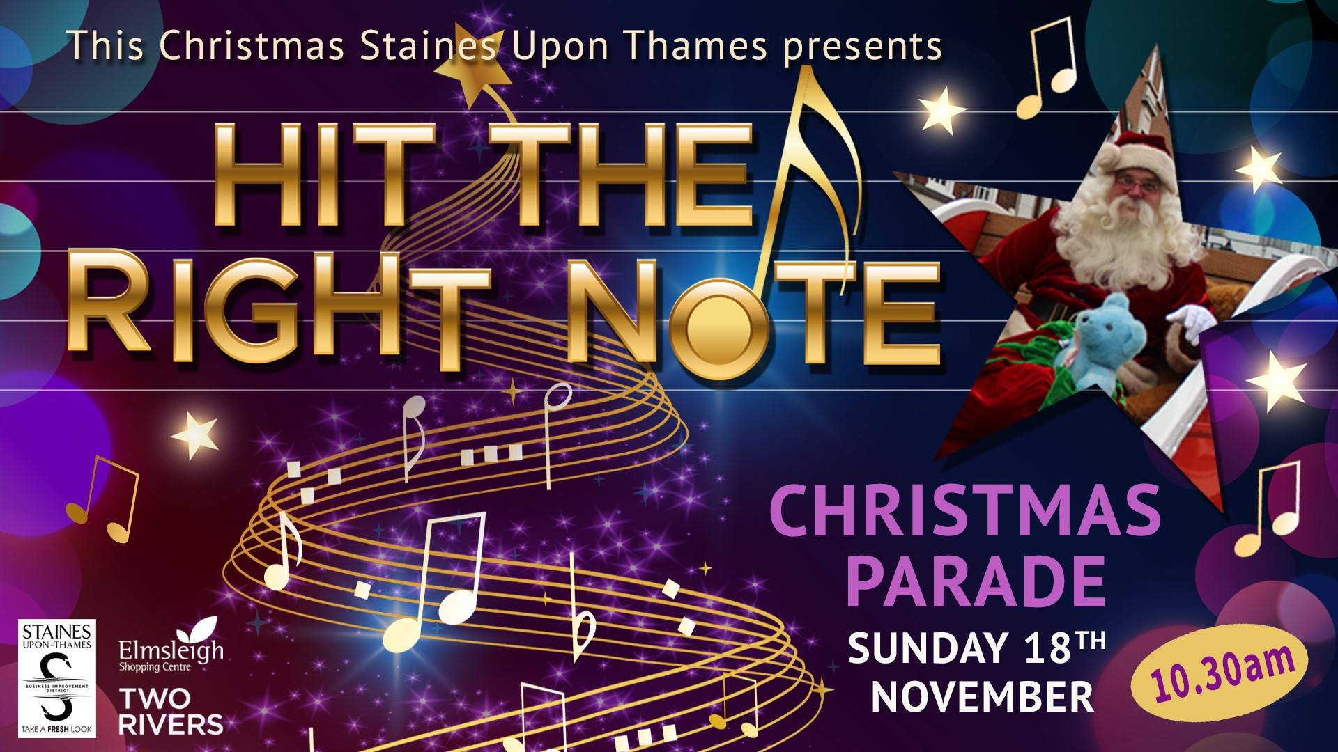 Christmas Parade in Staines-Upon-Thames