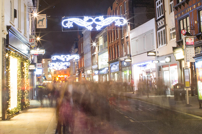 George Street truly glitters with its street-wide suspended lights