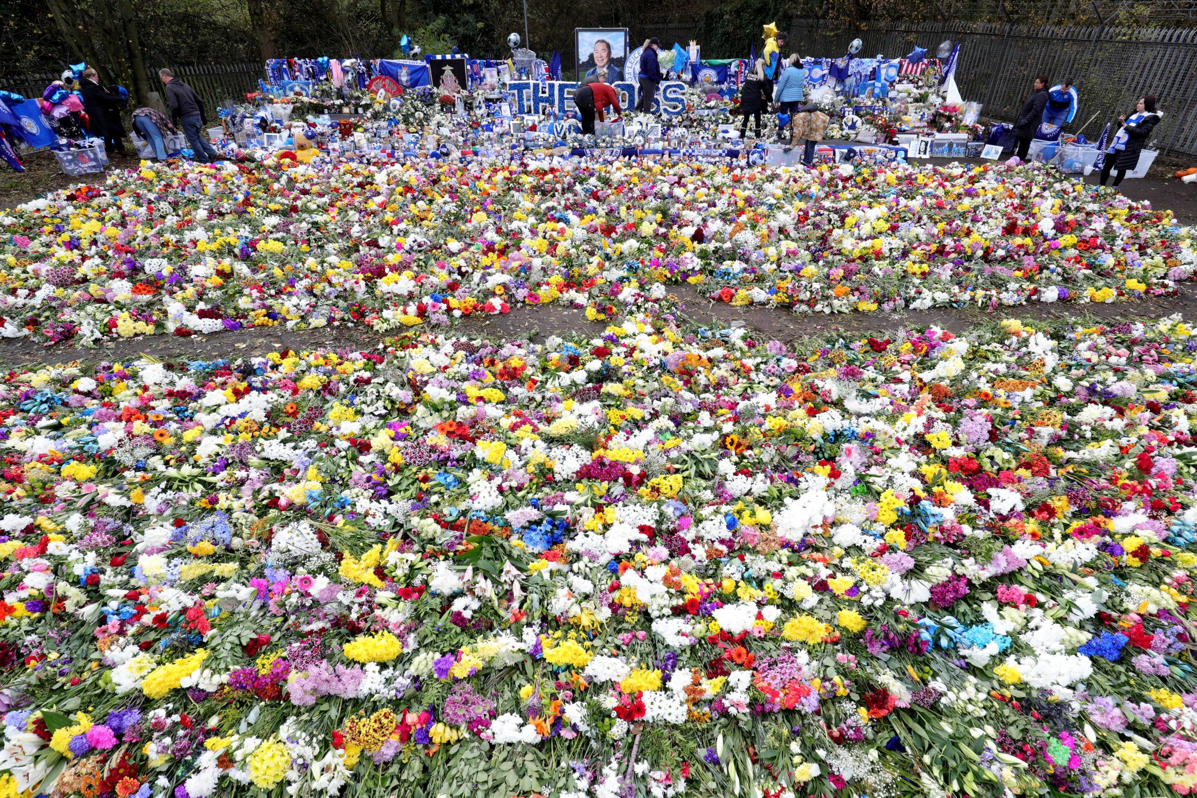 Tributes at Leicester City