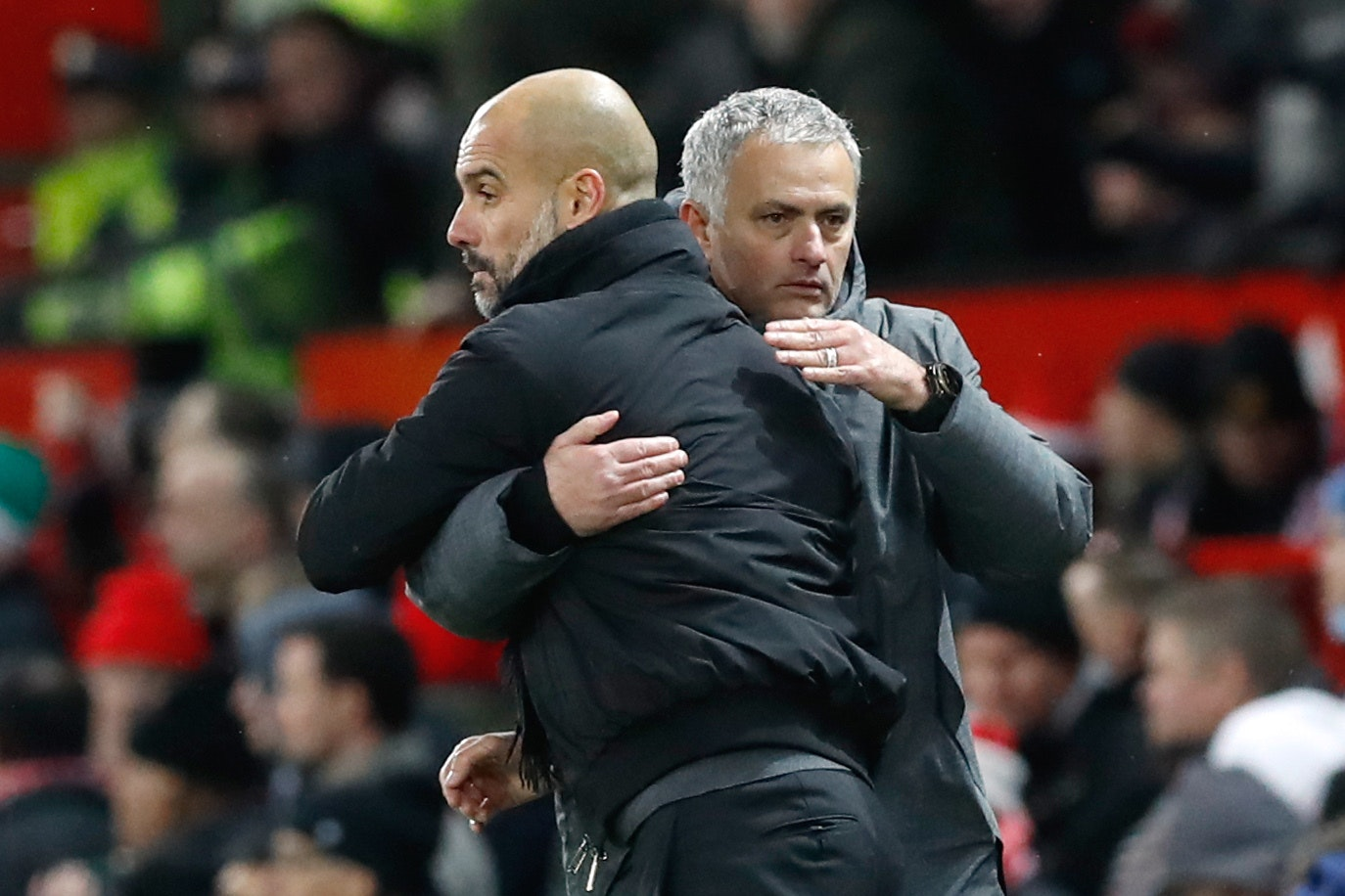 Pep Guardiola (left) faces his old rival Jose Mourinho this weekend