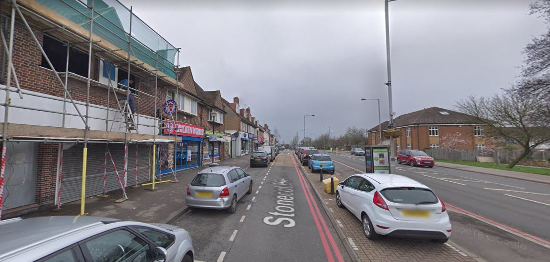 A parade of shops in Stonecot Hill. Photo: Google Maps / Street View