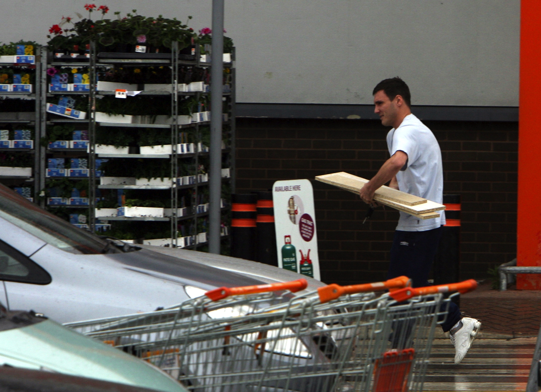 Blake Aldridge leaves the B&Q store in Southampton