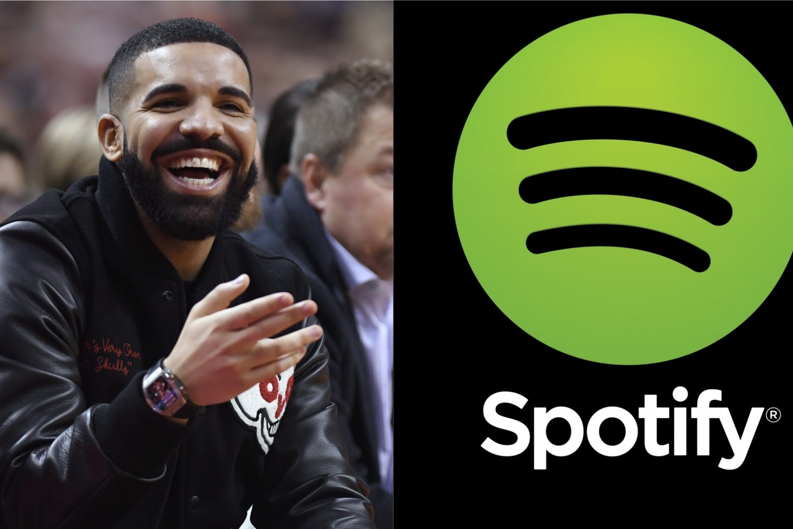 Drake and the Spotify logo