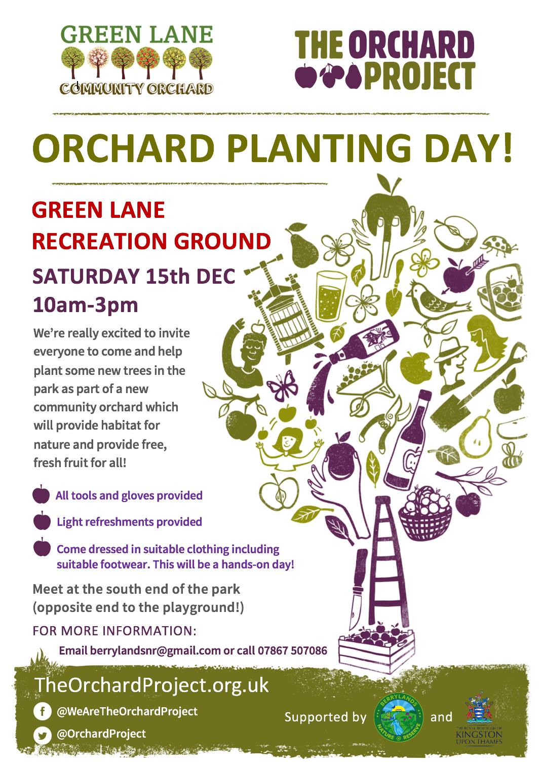 Planting of new Green Lane Community Orchard